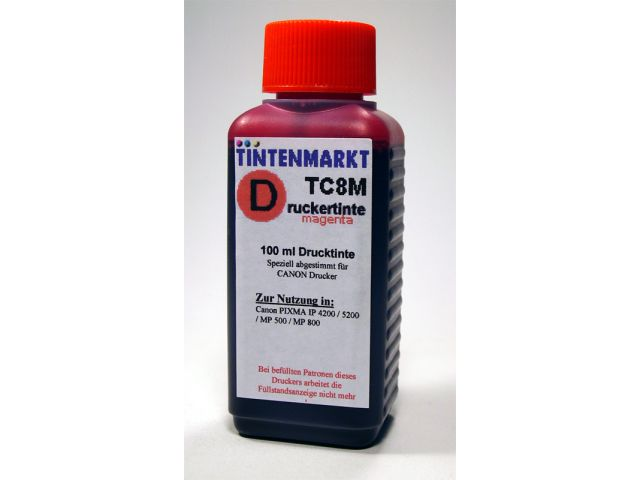 Druckertinte in Dye Based Qualit�t f�r Canon CLI8M 100 ml magenta