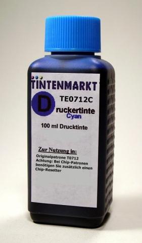 Whitelabel Druckertinte f�r Epson T0712100 ml