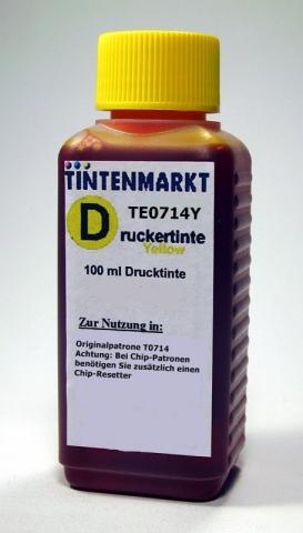 Whitelabel Druckertinte für Epson T0714100 ml