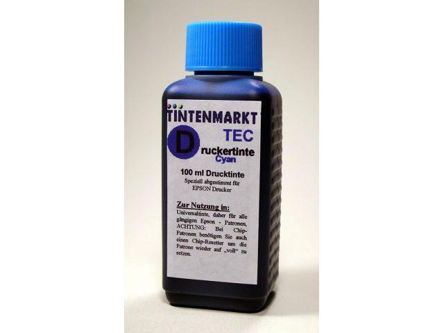 Druckertinte für Epson Druckerpatronen Universaltine in 100 ml Kunsstoffflasche mit