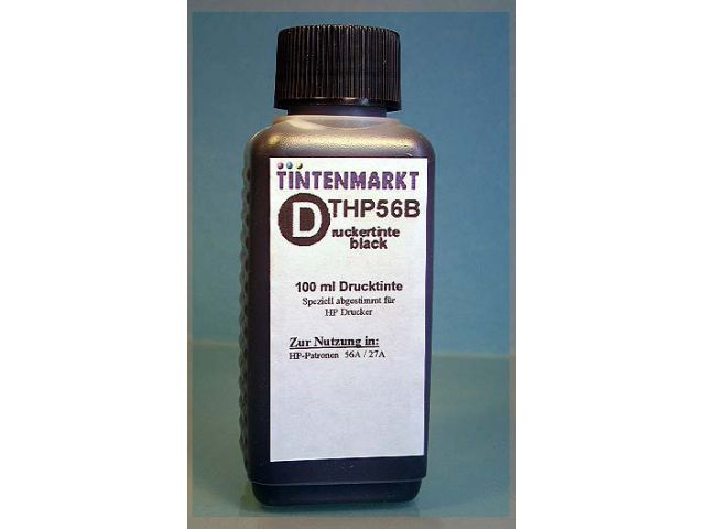 Druckertinte in pigmentiert Qualit�t f�r HP C6656A 100 ml black