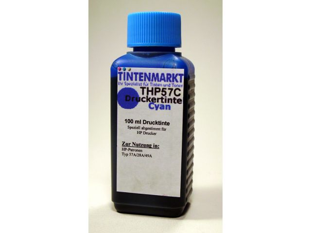 Druckertinte in Dye Based Qualit�t f�r HP C6657A 100 ml cyan