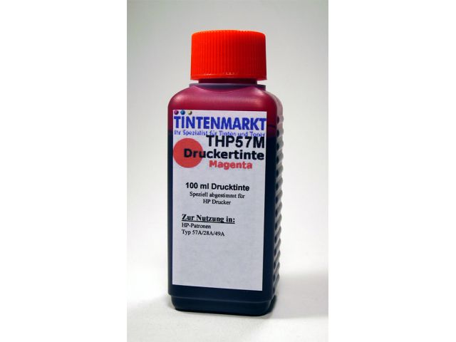 Druckertinte in Dye Based Qualit�t f�r HP C6657A 100 ml magenta