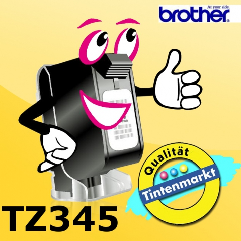 Brother TZ345 BROTHER P-TOUCH 18mm