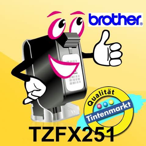 Brother TZFX251 BROTHER P-TOUCH 24mm white-black