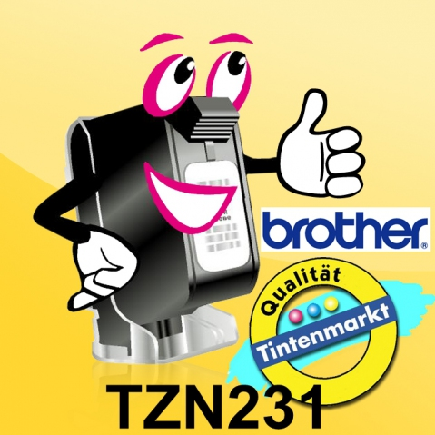 Brother TZN231 BROTHER P-TOUCH12mm