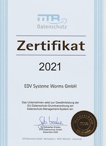 Datenschutz Zertifikat-2021