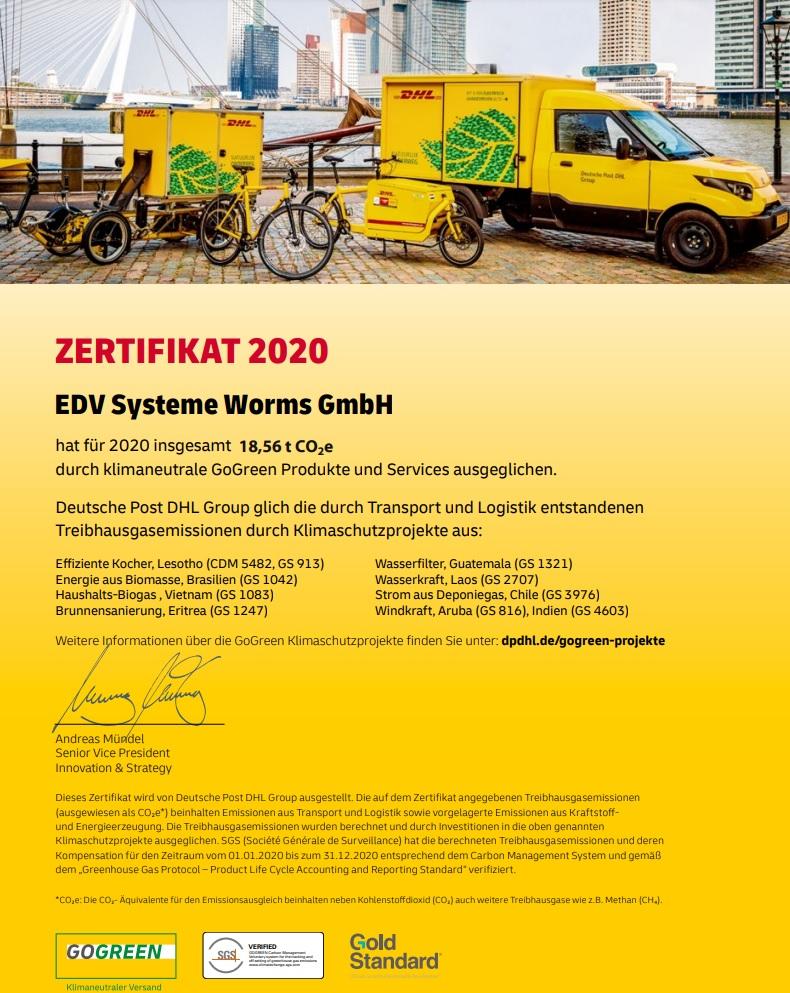 Zertifikat2020GoGreen