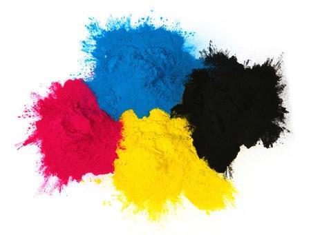 farbiges Tonerpulver