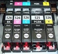 Canon Patronenset im Drucker
