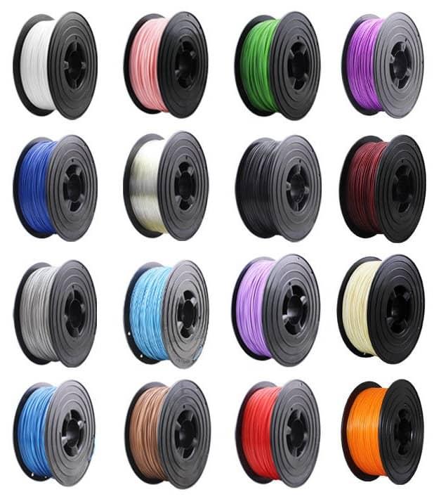 3D Filament in verschiedenen Farben