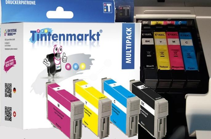 Multipack für Epson Drucker vom Tintenmarkt